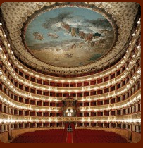 Teatro San Carlo in Naples, across the street from Galleria Umberto and around the corner from the Royal Palace
